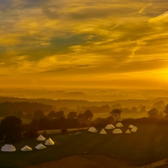 Sonnenaufgang über den Hüttener Bergen © Harald Raabe
