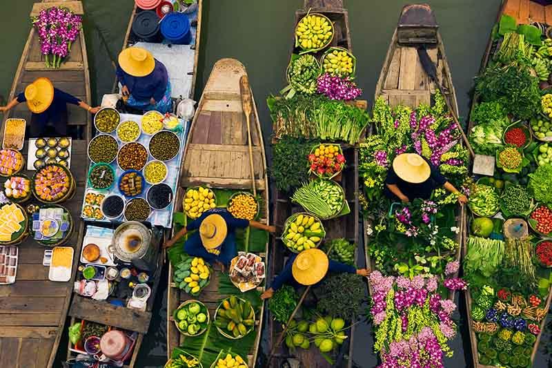 Schwimmender Markt, Bangkok, Thailand © Art Wolfe/ Art Wolfe Stock