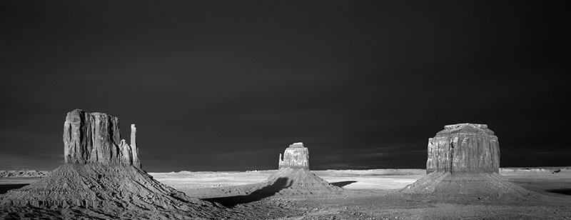 Monument Valley im infraroten Licht